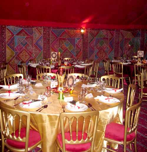Arabian themed tent hire Dining hall decoration ideas