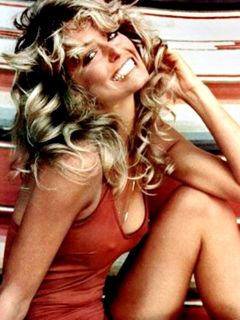 Farrah Fawcett is famous for the Cannonball Run movie with Burt Reynolds