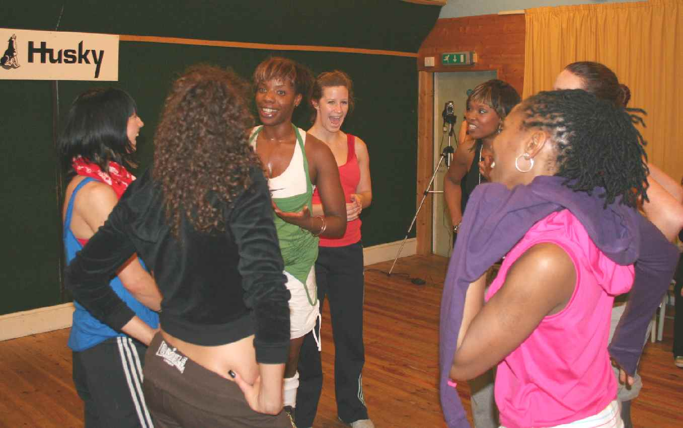 Kismet Girls dance troupe at Husky Studios London