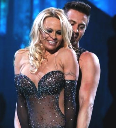 Pamella Anderson and Matt Evers fist eliminated from Dancing on Ice 8th series