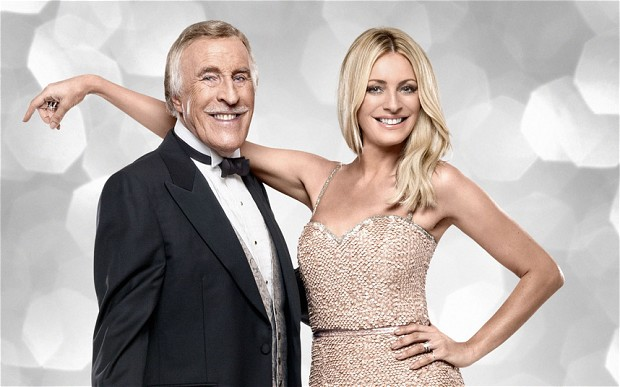 Bruce Forsyth and Tess Daly, present Strictly Come Dancing