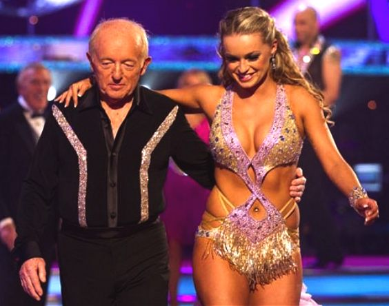 Paul Daniels escorts Ola Jordan's sexy dance outfit, Strictly Dancing